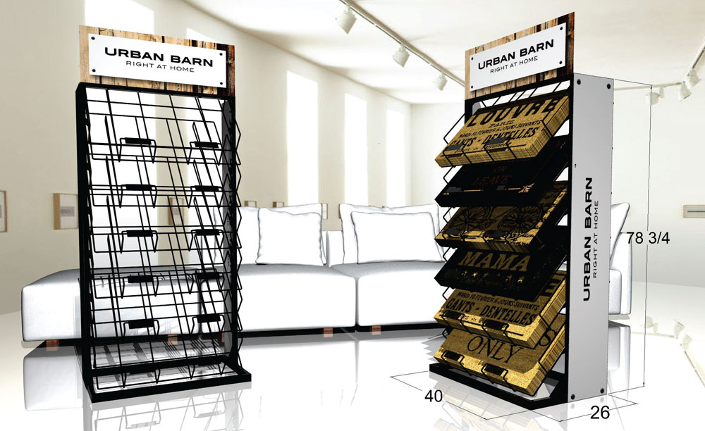 Carpet retail pop display rack