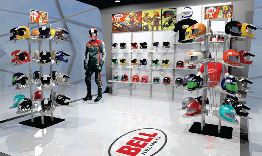 helmet retail pop display rack