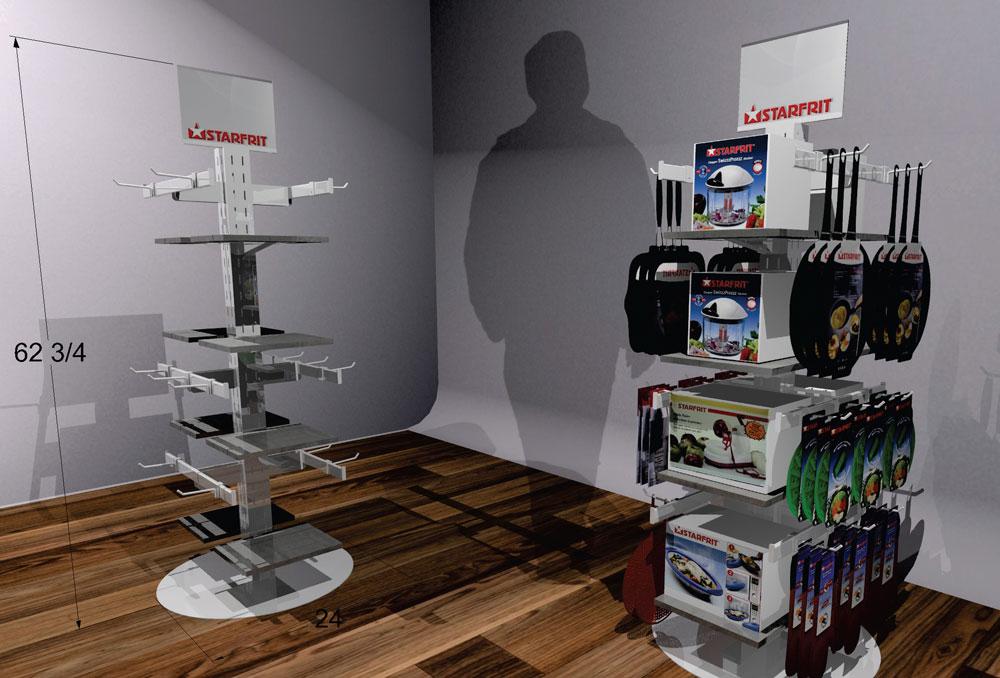 kitchen product retail pop display rack