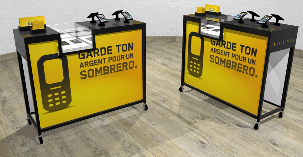 mobile phone or electronic retail pop display rack