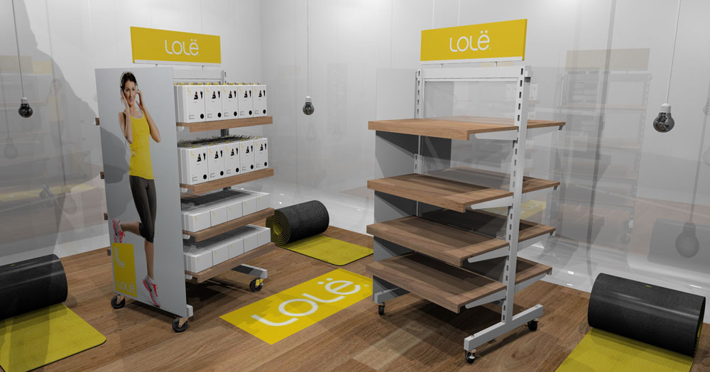 sport product retail pop display rack